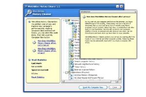 WinUtilities History Cleaner 3.95 screenshot