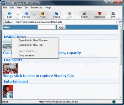 WinWAP for Windows 4.2.0.290 screenshot