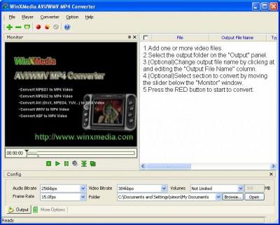 WinX AVI/WMV 2 MP4 Converter 2.13m screenshot