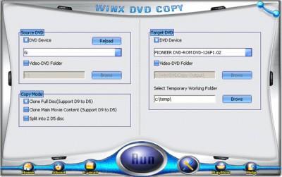 WinX DVD Copy 6.6.5 screenshot