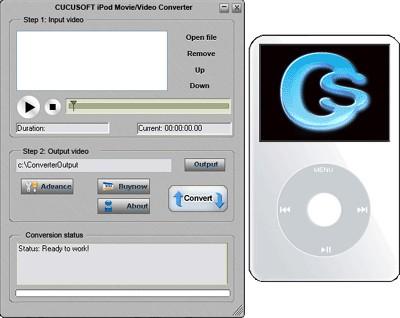 WinX iPod Movie/Video Converter 3.17 screenshot