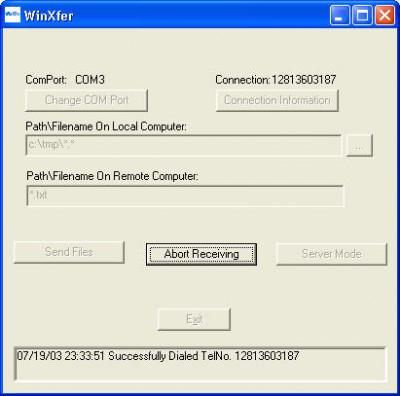 WinXfer 2.0 screenshot