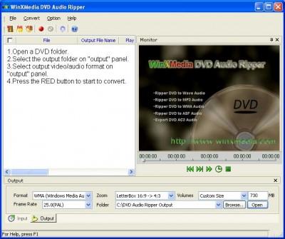 WinXMedia DVD Audio Ripper 4.33 screenshot