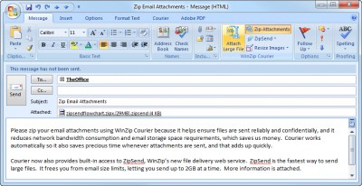 WinZip Courier 6.0.11164 screenshot