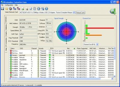 WirelessMon 4.0.1009 screenshot