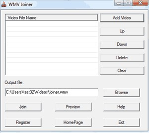 WMV Joiner 1.3.9.1 screenshot