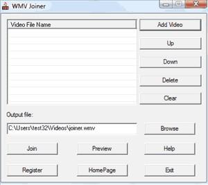 WMV Joiner 1.3.9.1 screenshot
