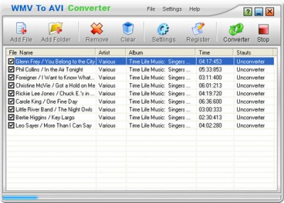 WMV to AVI Converter 1.00 screenshot
