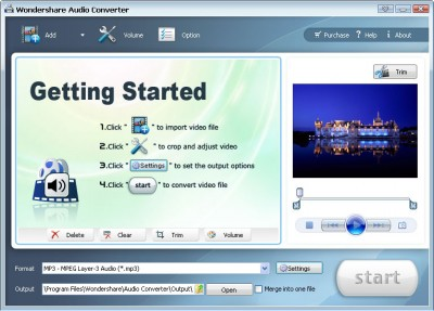 Wondershare Audio Converter 3.1.25 screenshot