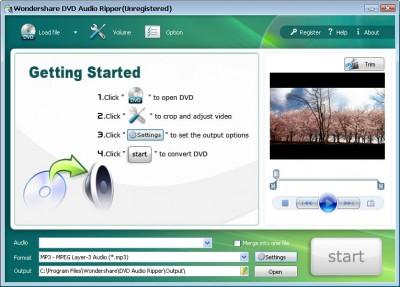 Wondershare DVD Audio Ripper 3.1.24 screenshot