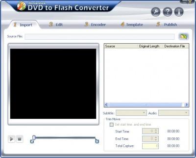 Wondershare DVD to Flash Converter 2.4.15 screenshot