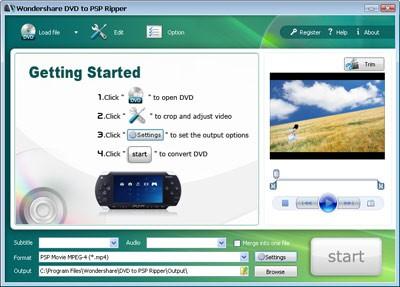 Wondershare DVD to PSP Ripper 3.1.26 screenshot