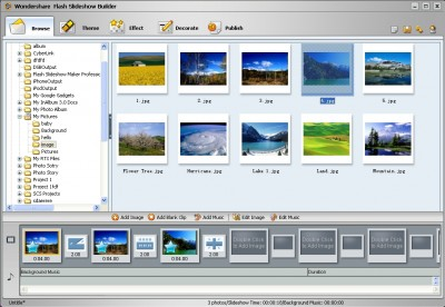 Wondershare Flash SlideShow Builder 4.1.0 screenshot