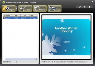 Wondershare Flash to Video Converter 1.2.14 screenshot