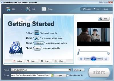 Wondershare RM Video Converter 3.1.25 screenshot