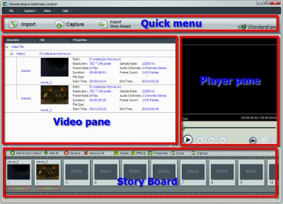 Wondershare WebVideo Author 1.1.6 screenshot