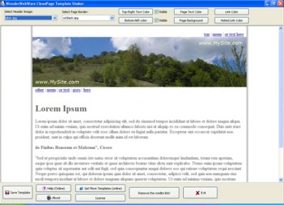 WonderWebWare TemplateShaker 2.3 screenshot