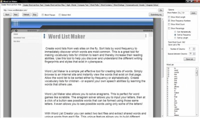 Word List Maker 6 screenshot