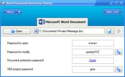 Word Password Recovery Master 4.0 screenshot