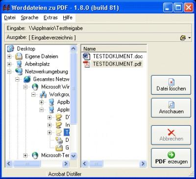 WordToPDF 1.4 screenshot