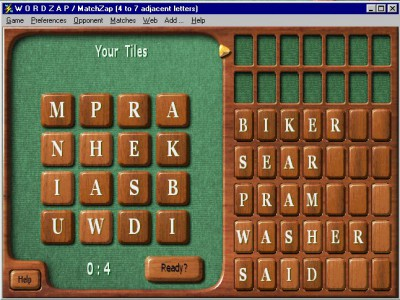 WordZap Deluxe 7.14 screenshot