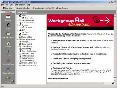 WorkgroupMail Mail Server 7.6.3 screenshot