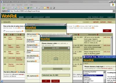 WorkRoll Bug Tracker and Feedback Mgr. 2.62.4 screenshot