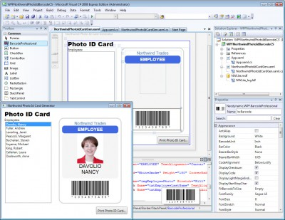 WPF Barcode Professional 4.0 screenshot