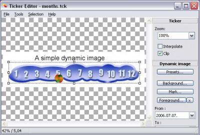 ws Ticker Editor 0.5 screenshot