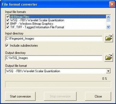 WSQ image library (for fingerprints) 4.1 screenshot