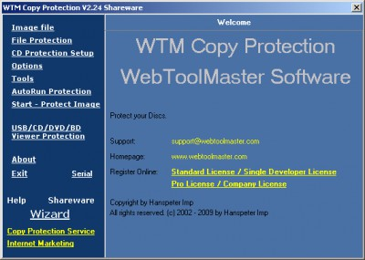 WTM Copy Protection / CD Protect 2.68 screenshot