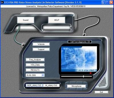 Portable Voice Lie Detector