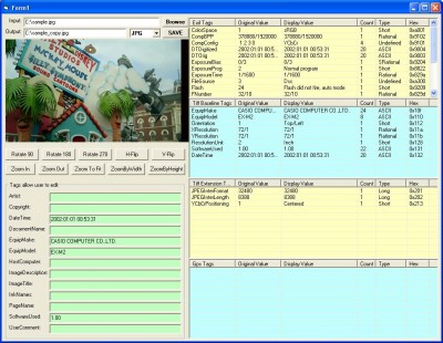 X360 Exif & Tiff Tag Viewer ActiveX OCX 2.93 screenshot