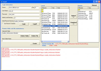 X360 Ftp ActiveX OCX - Full Source Code 2.27 screenshot