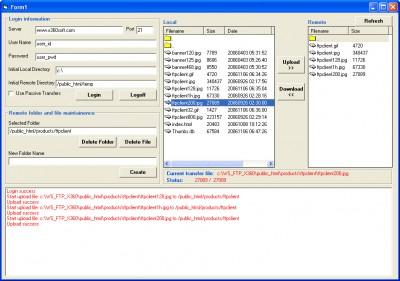 X360 Ftp Client ActiveX Control 2.93 screenshot