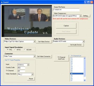 X360 Video Capture ActiveX OCX 2.1 screenshot