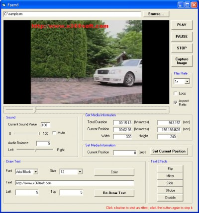 x360soft -  Video Player ActiveX SDK 2.22 screenshot
