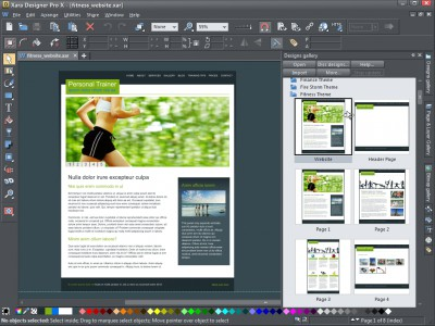 Xara Designer Pro X 11 screenshot