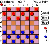 xCheckers for PALM 9.1.1 screenshot