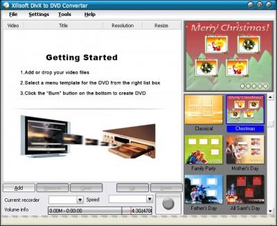 XI soft DivX 2 DVD Convert 4.6.1.1458 screenshot