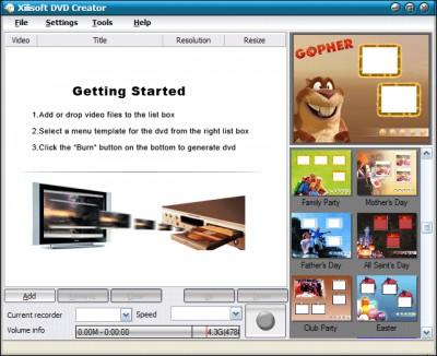 XI Soft DVD Creator 4.8.13.649 screenshot