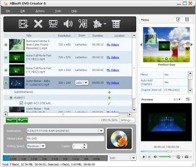 Xilisoft DVD Creator 7.1.3.2013 screenshot