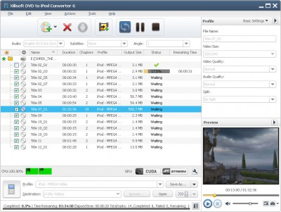 Xilisoft DVD to iPod Suite 6.5.3.0310 screenshot