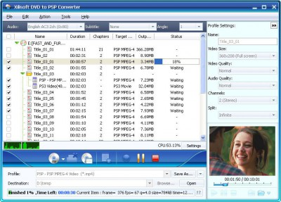 Xilisoft DVD to PSP Suite 6.0.14.110 screenshot