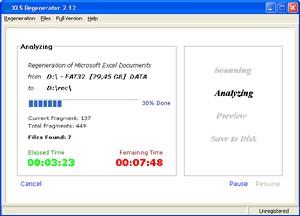 XLS Regenerator 2.12 screenshot