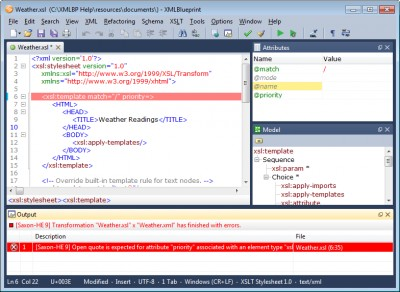 XMLBlueprint XML Editor 9.3 screenshot