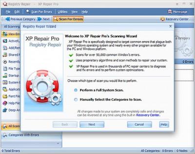 XP REPAIR PR0 3.5.4.16 screenshot