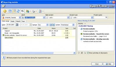 Xpert-Timer 2007 1.5.5 screenshot