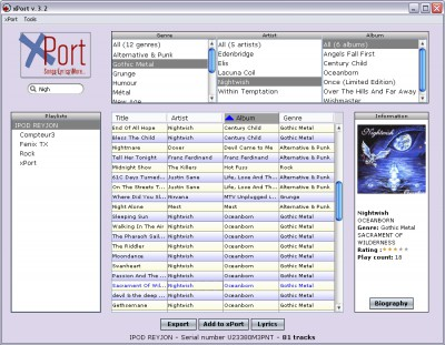 xPort 4.86 screenshot