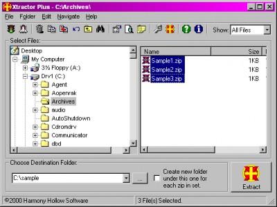 Xtractor Plus 3.6 screenshot